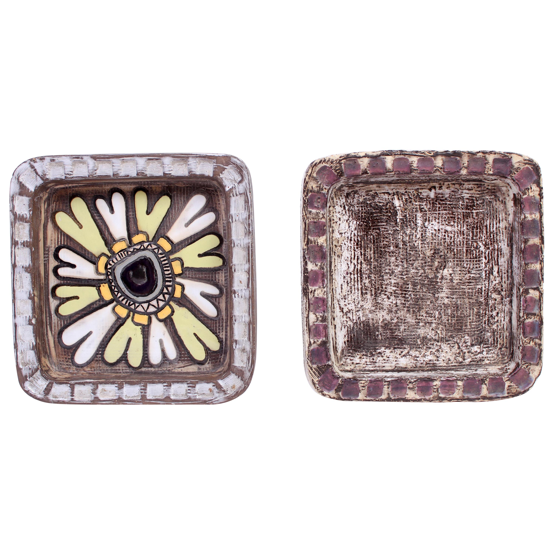 Midcentury Pair of Ceramic Trays by Mari Simmulson for Upsala Ekeby