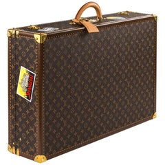 Louis Vuitton Bisten Suitcase 75 Monogram with Stickers beca54115b0
