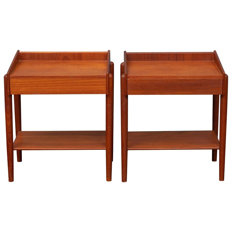 Borge Mogensen Teak Nightstands For Sale