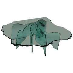 Shell Coffee Table by Danny Lane Crystal Vintage, Italy, 1980s