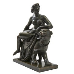 "Bronze Sculpture of ""Ariadne on the Panther"" After Dannecker, French"