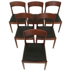 Kai Kristiansen Six Dining Chairs in Teak for Korup Stolefabrik, Denmark, 1960s