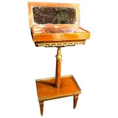 19tes Jahrhundert Louis XVI Mahagoni Frankreich Tabelle Toletta mit Bronze, 1860er Jahre