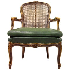 Chippendale Armchair Club Chair Baroque Antique Leather Rattan