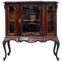 Showcase Bar Chippendale Empire Louis XIV Antique Baroque Cabinet