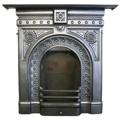 Reclaimed Mid Victorian Cast Iron Bedroom Fireplace