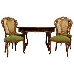 Louis Philippe Dining Table Baroque Chippendale Antique Table Chairs