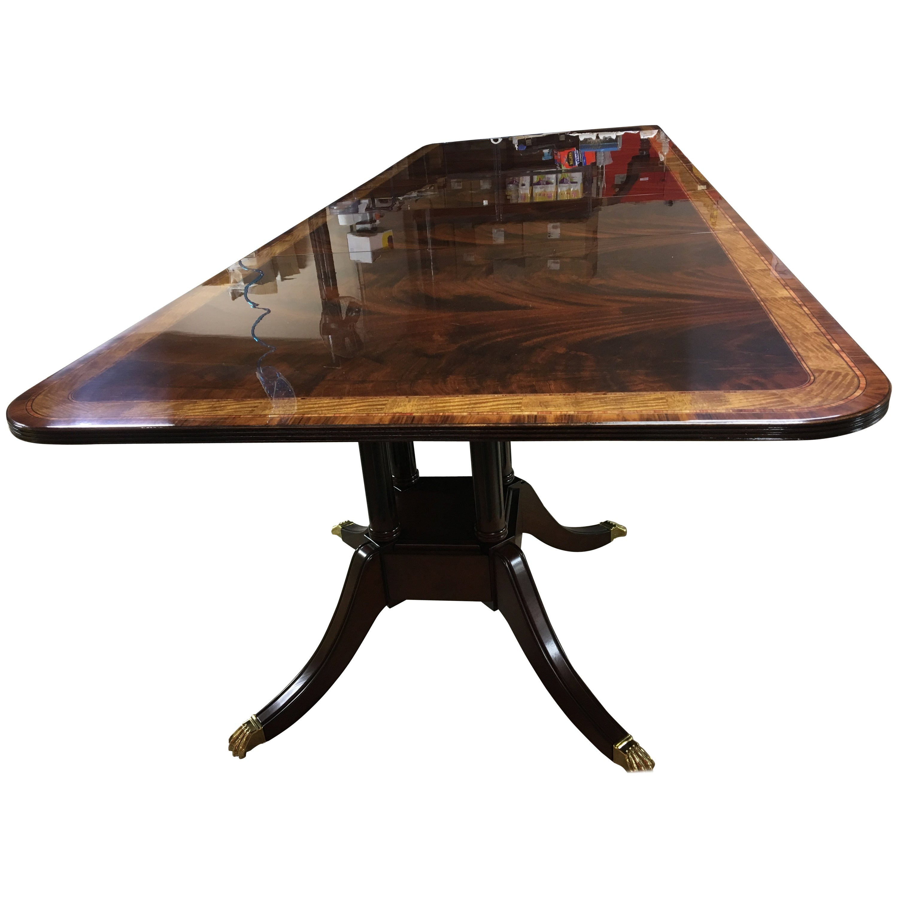Large Mahogany Georgian Style Dining Table by Leighton Hall