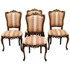4 Chippendale Chairs Armchair Club Chair Baroque Antique