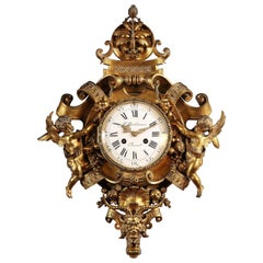 Fine Renaissance Style Wall-Clock by Sévin and Barbedienne