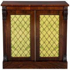Regency Period 19th Century Rosewood Two-Door Side Cabinet
