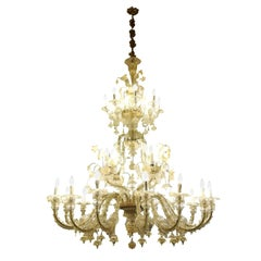 28 Lights Venetian Glass Blown Chandelier
