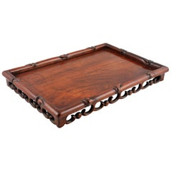 Chinese Rosewood Scribe's Tray