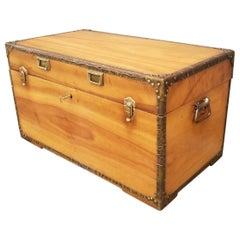 Early 20th Century Camphor Wood Cabin Trunk