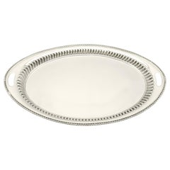 1892 Antique Victorian Sterling Silver Tray