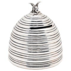 Sterling Silver Beehive Bank by Kerr Dated 1911