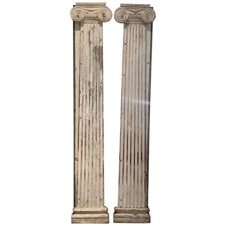 Pair of Federal Period Colombia Pilasters For Sale