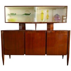 Italian Modern Walnut Cabinet by Gio Ponti for M. Singer & Sons