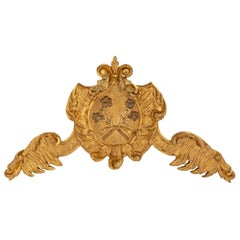Italian 18th Century Baroque Carved Giltwood Wall Decor