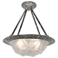 French Art Deco Pendent/Chandelier by Degue