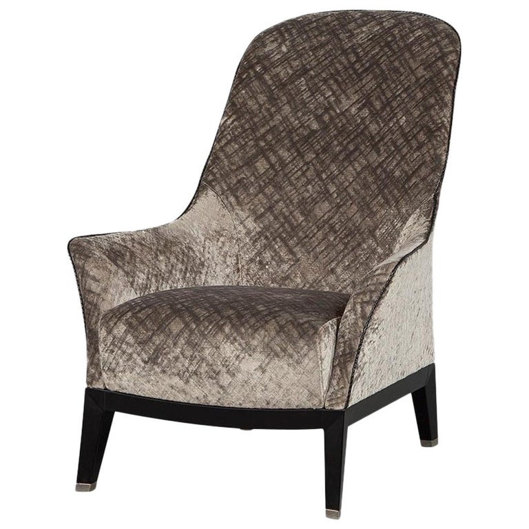 Gorgeous High Back Lounge Chair For Sale