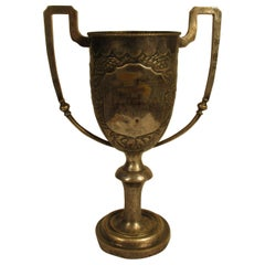 1930s Silver Plate Chinese Boxing Trophy