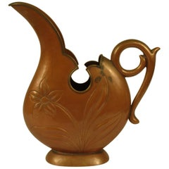 1920s Art Nouveau Copper Pitcher