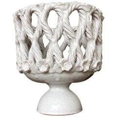Fratelli Fanciullacci Ceramic White Vase Pottery Ceramiche Artistiche, Italy