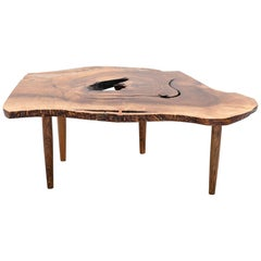 Early George Nakashima Coffee Table in English Walnut, New Hope, 1958