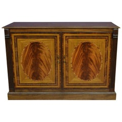 Mahogany Georgian Style Two-Door Buffet Credenza by Leighton Hall