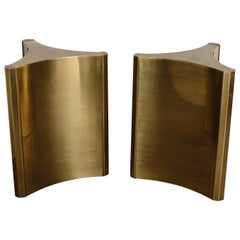 Pair of Mastercraft Brass 'Trilobi' Dining Table Bases