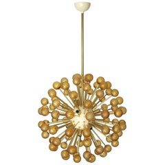 Two Amber Burst Sputnik Chandeliers by Fabio Ltd