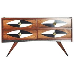 Mid-Century Modern Swedish Rosewood Chest of Drawers by AB Glas & Trä, 1960s
