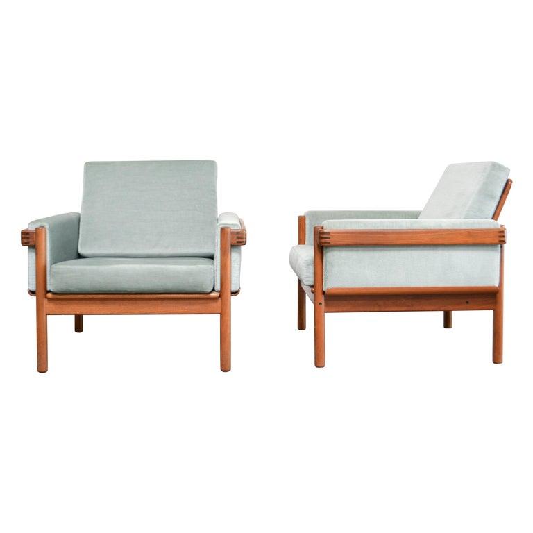 Henry Walter Klein Danish Modern Pair of Teak Easy Chair for Bramin For Sale