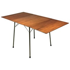 Danish Drop-Leaf Dining Table by Arne Jacobsen for Fritz Hansen Model 3601