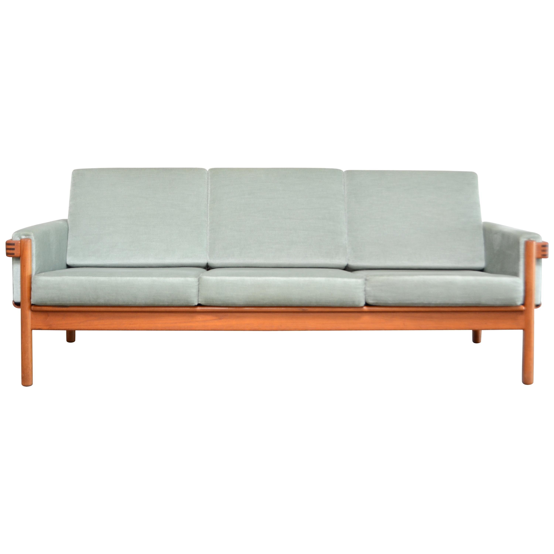 Henry Walter Klein Danish Modern Teak Sofa for Bramin