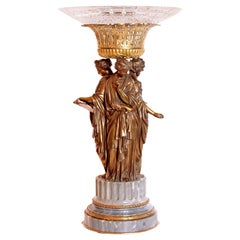 19th Century French Three Graces Centerpiece