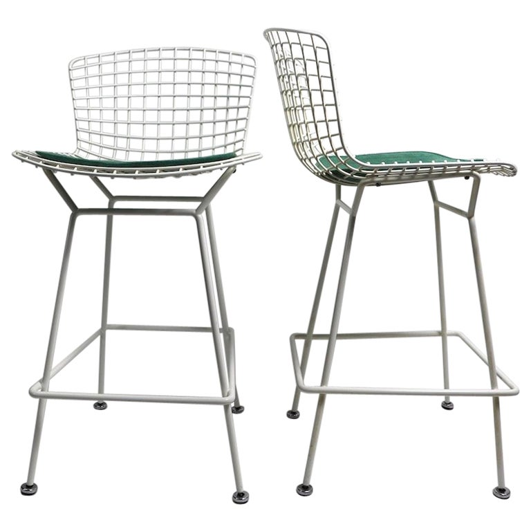 Pair of Bar Counter Stools by Bertoia for Knoll For Sale