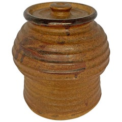 Studio Pottery Jar with Lid
