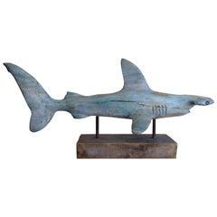 Davis Murphy Hand Carved Sculpture of a Hammerhead Shark, 2018
