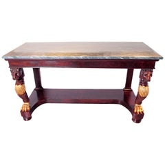 19th Century Regency Marble-Top Console