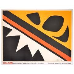 Alexander Calder Pace/Columbus exhibition Hand Lithograph, 1971
