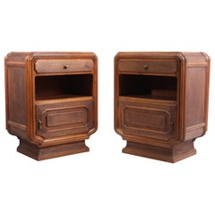 Pair of Rustic Italian Bedside Cabinets, circa 1920