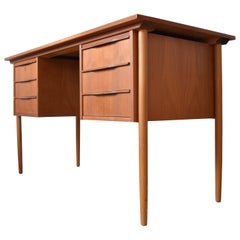 Midcentury Danish Teak and Beech Desk, 1960s