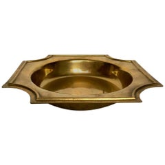 Art Deco German Gilt Brass Ashtray or Plate