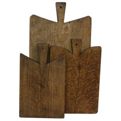 Collection of Three Rare French 19th Century, Wooden Chopping / Cutting Boards
