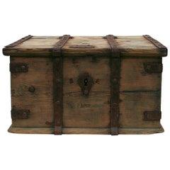 Swedish 18th Century Wooden Travel Box or Chest