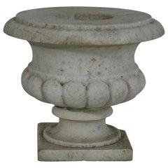 English 19th Century White Marble Garden Vase/Urn