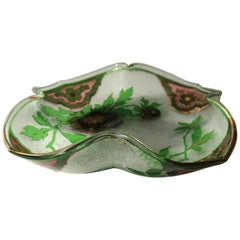 Bohemian Art Nouveau Pink and Green Cameo Glass Dish by Riedel, circa 1900