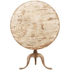 Swedish Gustavian Tilt-Top Table from the 1780s